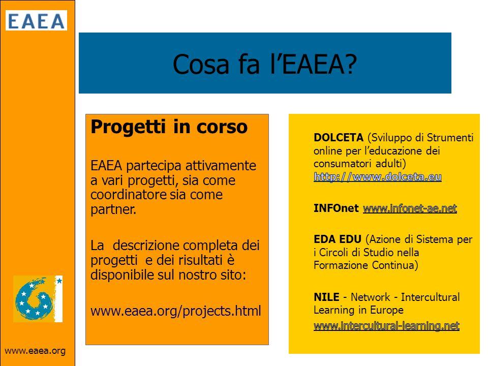 www.eaea.org Cosa fa lEAEA.