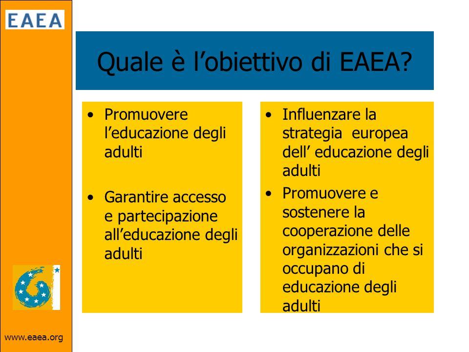 www.eaea.org Quale è lobiettivo di EAEA.