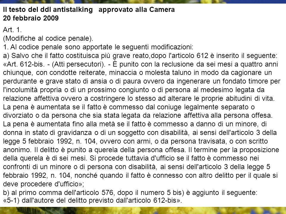 Art.2. (Ammonimento). 1.