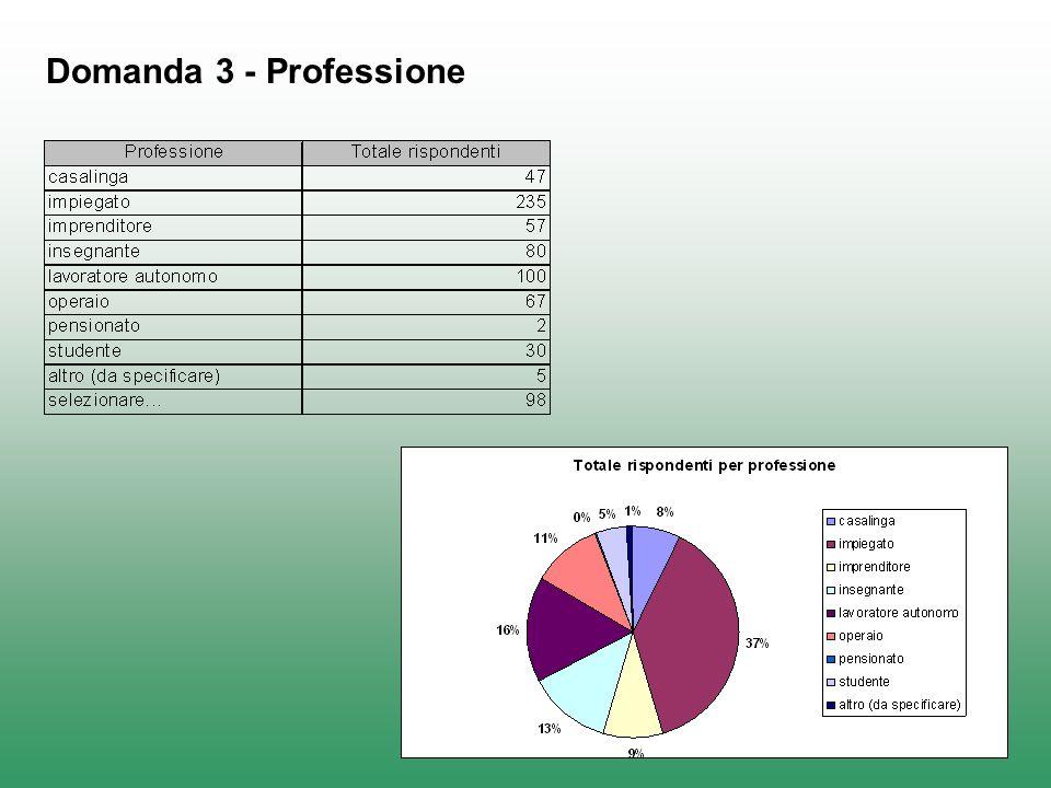 Domanda 3 - Professione