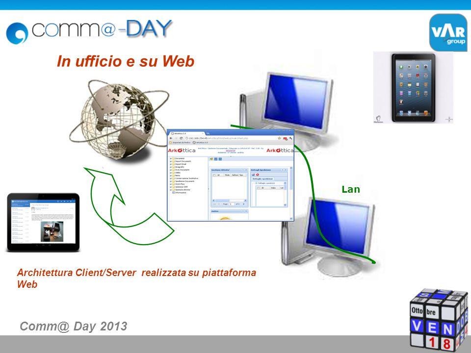 Lan In ufficio e su Web Architettura Client/Server realizzata su piattaforma Web Comm@ Day 2013