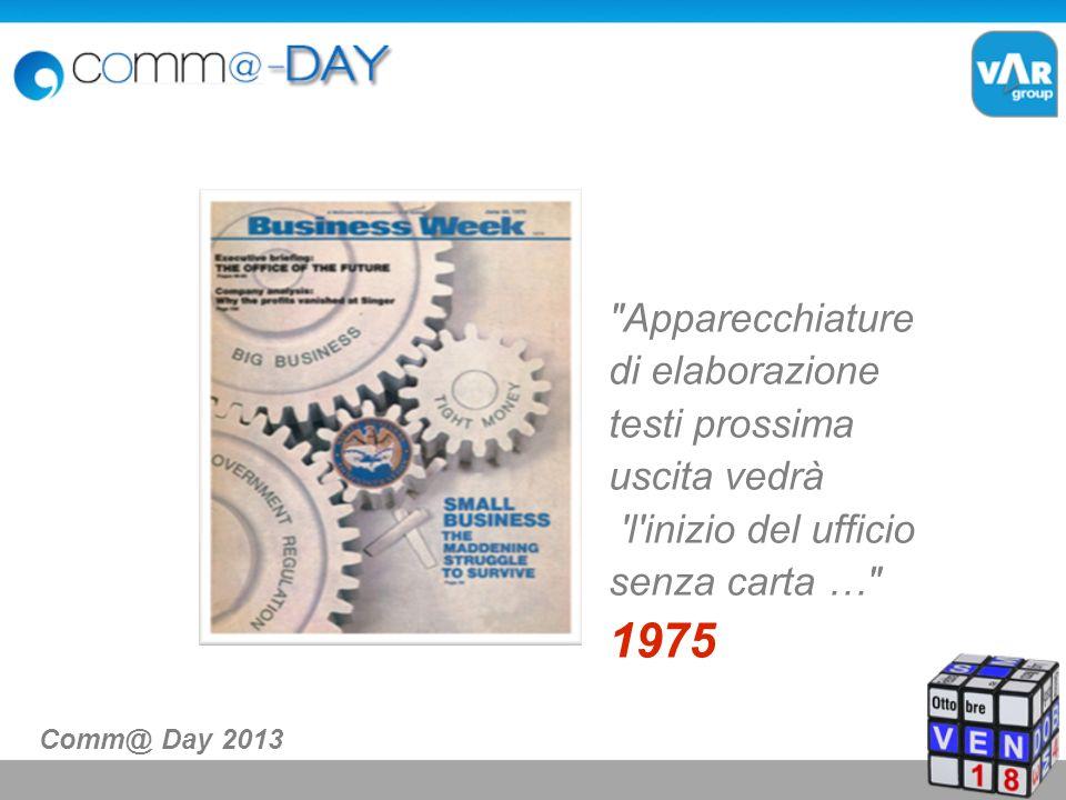 L Archivio oggi Comm@ Day 2013