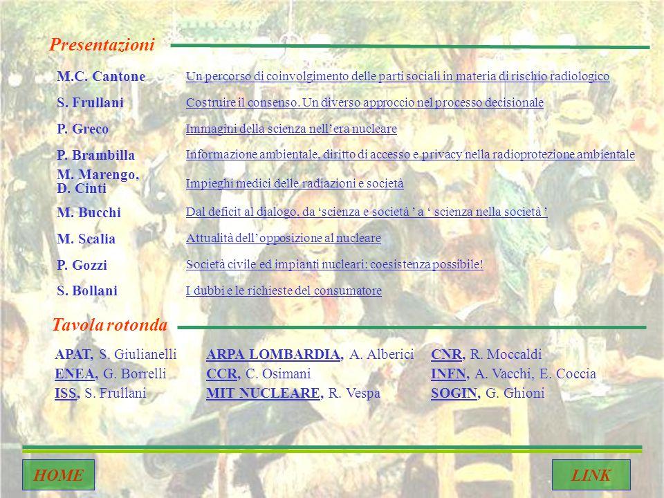 M.C. Cantone Un percorso di coinvolgimento delle parti sociali in materia di rischio radiologico S.
