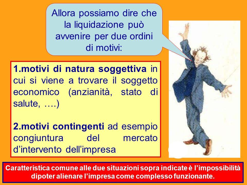 Dott. Marco Fava favamarco1@yahoo.it 8 1.motivi di natura soggettiva in cui si viene a trovare il soggetto economico (anzianità, stato di salute, ….)