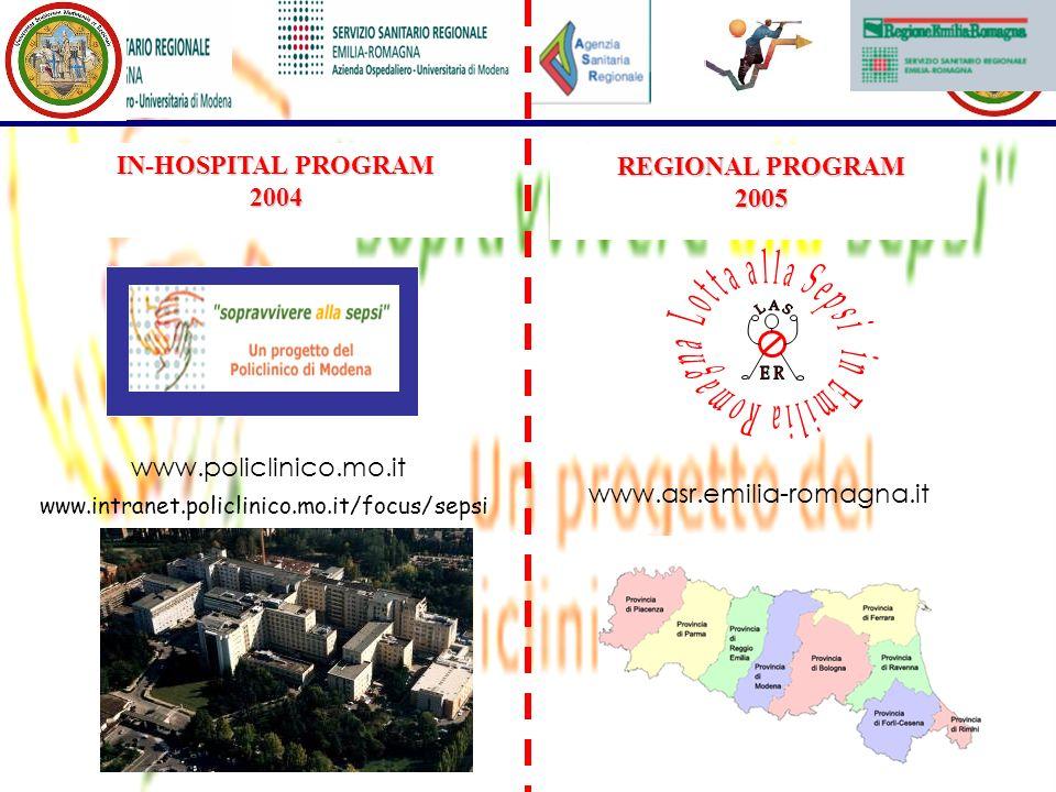 www.intranet.policlinico.mo.it/focus/sepsi www.policlinico.mo.it IN-HOSPITAL PROGRAM 2004 REGIONAL PROGRAM 2005 www.asr.emilia-romagna.it
