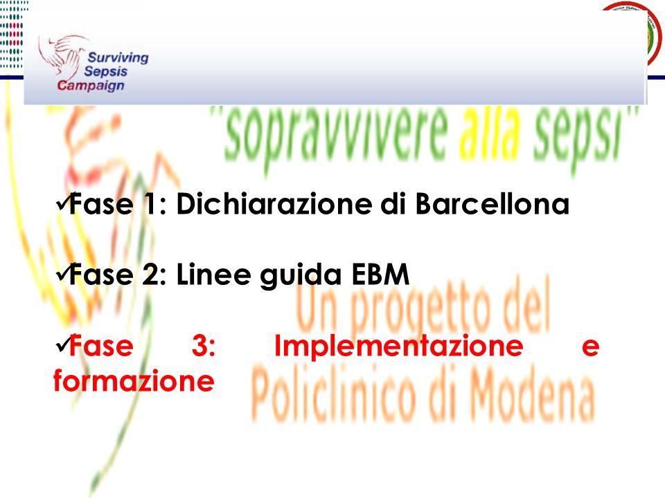 Fase 1: Dichiarazione di Barcellona Fase 2: Linee guida EBM Fase 3: Implementazione e formazione