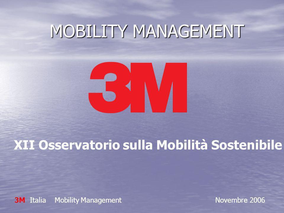 MOBILITY MANAGEMENT MOBILITY MANAGEMENT 3M Italia Mobility Management Novembre 2006 XII Osservatorio sulla Mobilità Sostenibile