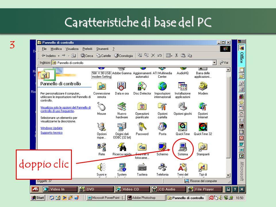 Caratteristiche di base del PC 3 doppio clic
