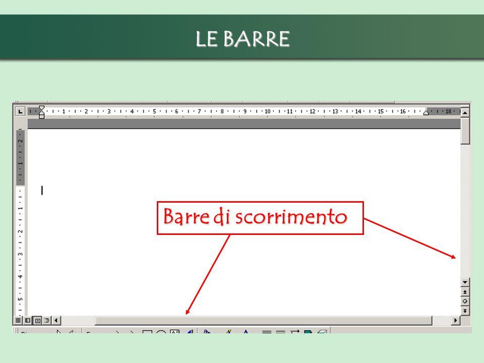 LE BARRE Barre di scorrimento
