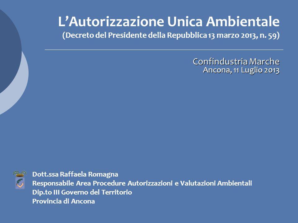 La Provincia e il suo ruolo nel procedimento di rilascio dellAUA: le diverse fattispecie disciplinate dallart.4 del decreto Lart.
