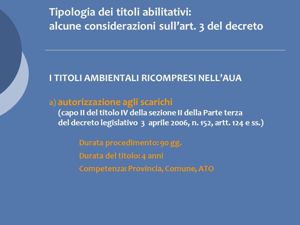 I TITOLI AMBIENTALI RICOMPRESI NELLAUA g) Comunicazioni in materia di rifiuti ex art.