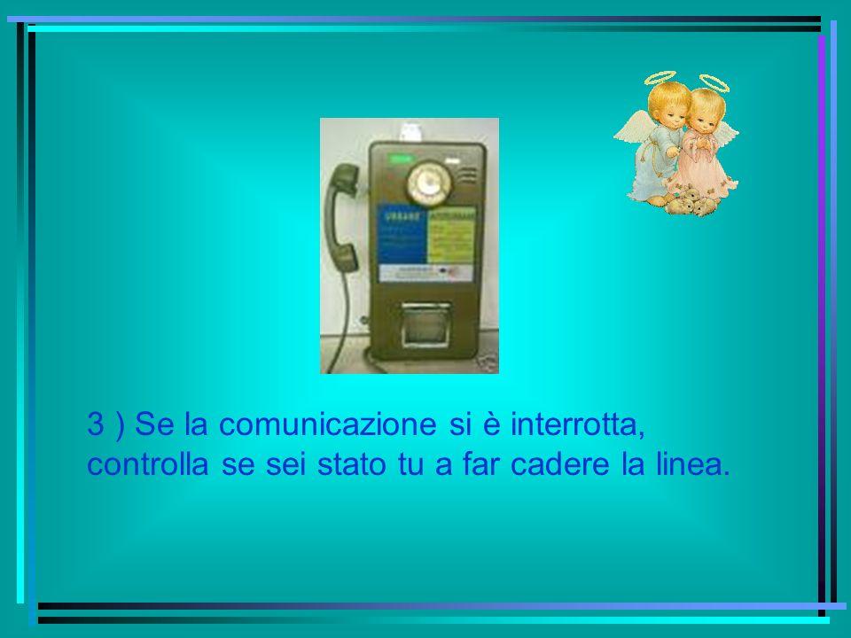 3 ) Se la comunicazione si è interrotta, controlla se sei stato tu a far cadere la linea.