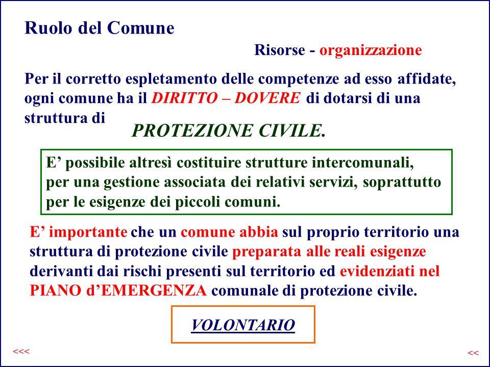 Ruolo del Comune Risorse - organizzazione Per il corretto espletamento delle competenze ad esso affidate, ogni comune ha il DIRITTO – DOVERE di dotars