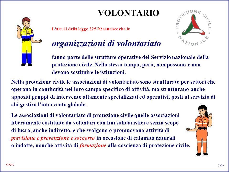VOLONTARIO fanno parte delle strutture operative del Servizio nazionale della protezione civile. Nello stesso tempo, però, non possono e non devono so
