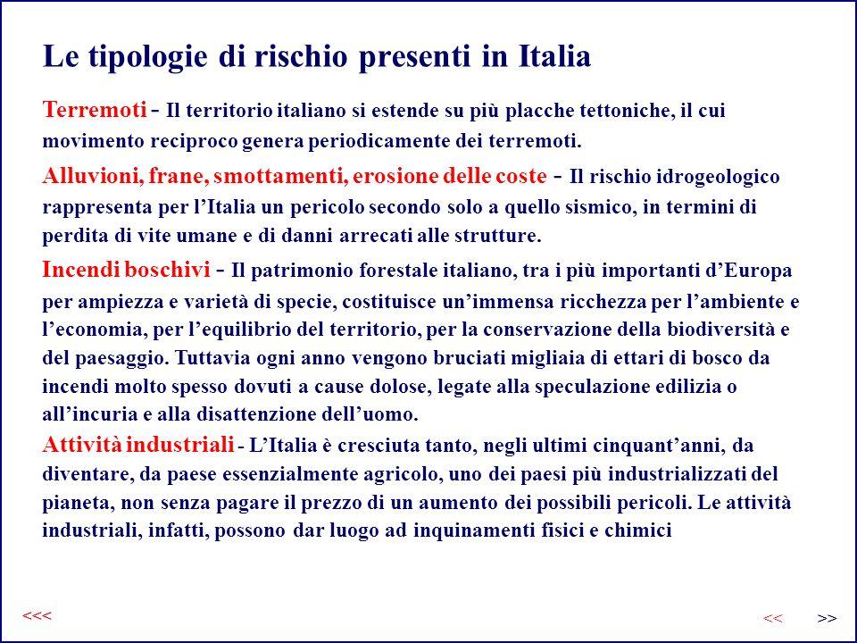 Terremoti - Il territorio italiano si estende su più placche tettoniche, il cui movimento reciproco genera periodicamente dei terremoti. Alluvioni, fr