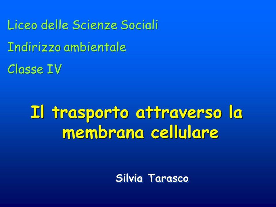 Il trasporto attraverso la membrana cellulare Silvia Tarasco Silvia Tarasco Liceo delle Scienze Sociali Indirizzo ambientale Classe IV Liceo delle Sci