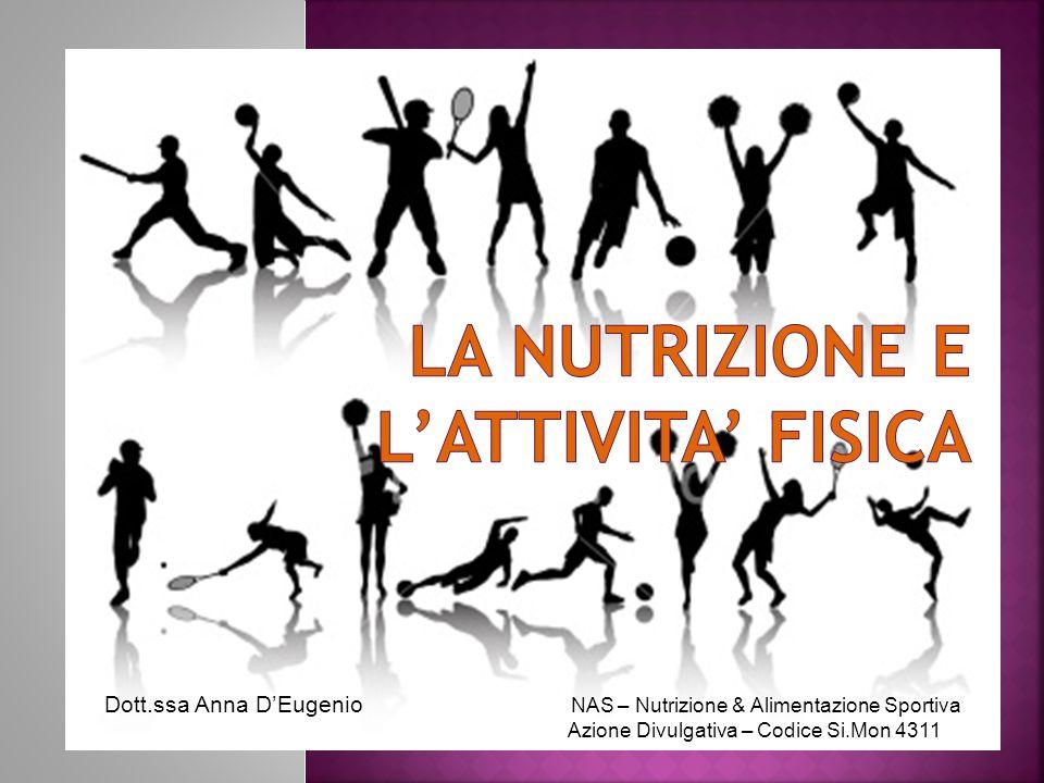 Dott.ssa Anna DEugenio NAS – Nutrizione & Alimentazione Sportiva Azione Divulgativa – Codice Si.Mon 4311
