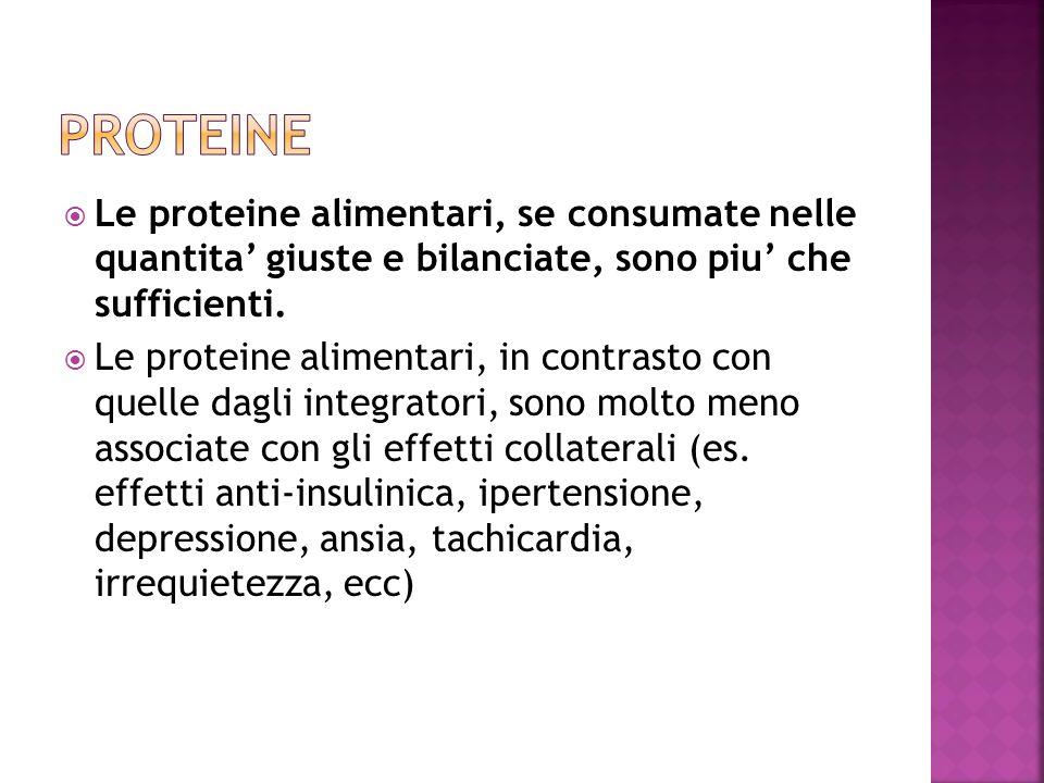Le proteine alimentari, se consumate nelle quantita giuste e bilanciate, sono piu che sufficienti. Le proteine alimentari, in contrasto con quelle dag