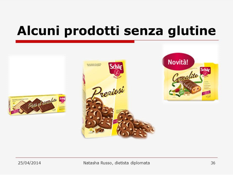 Alcuni prodotti senza glutine 25/04/2014Natasha Russo, dietista diplomata36