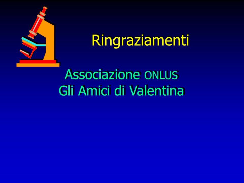 Ringraziamenti Associazione ONLUS Gli Amici di Valentina Associazione ONLUS Gli Amici di Valentina