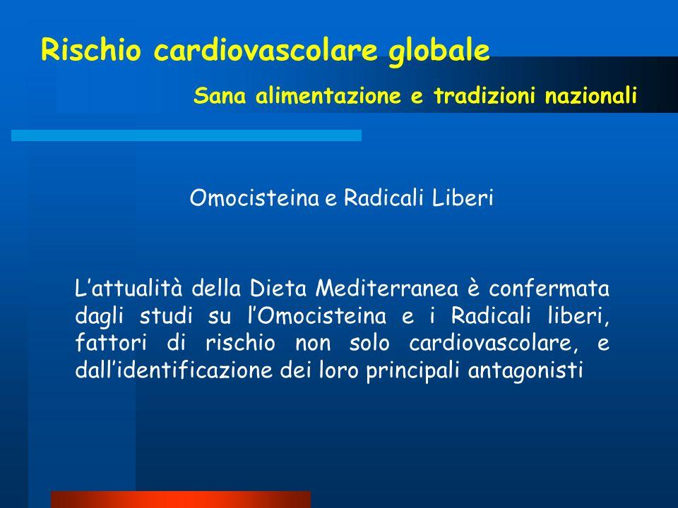 Rischio cardiovascolare globale Sana alimentazione e tradizioni nazionali Lattualità della Dieta Mediterranea è confermata dagli studi su lOmocisteina
