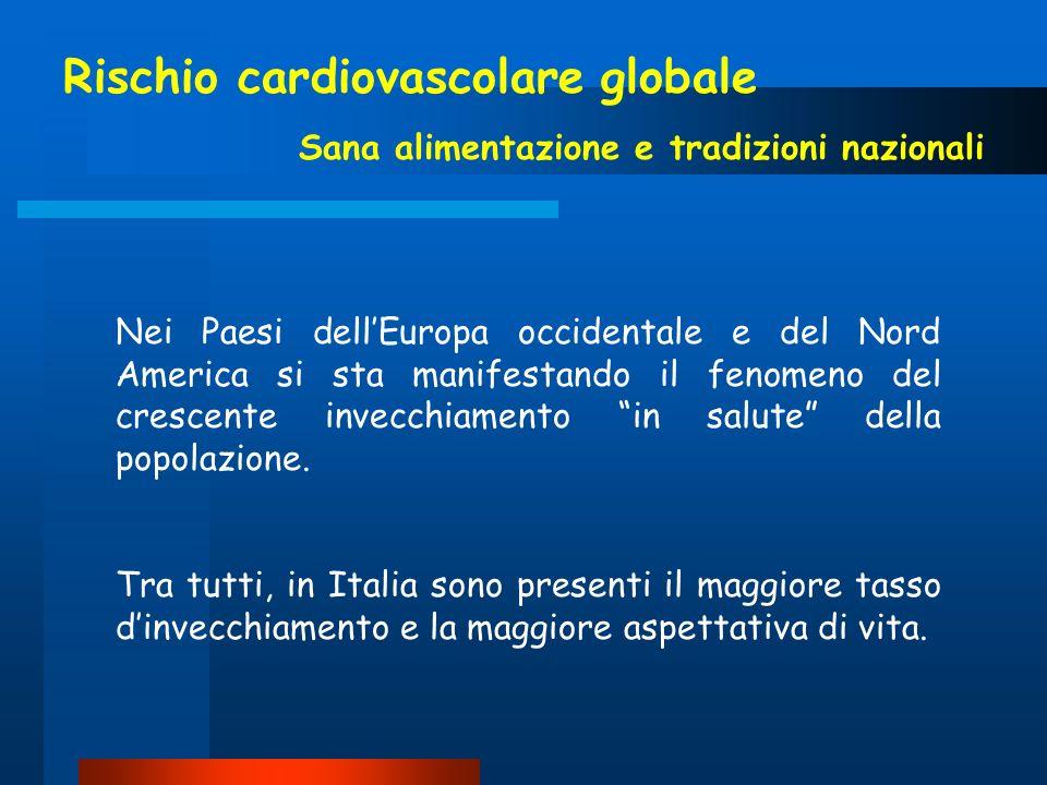 Rischio cardiovascolare globale Sana alimentazione e tradizioni nazionali Nei Paesi dellEuropa occidentale e del Nord America si sta manifestando il f