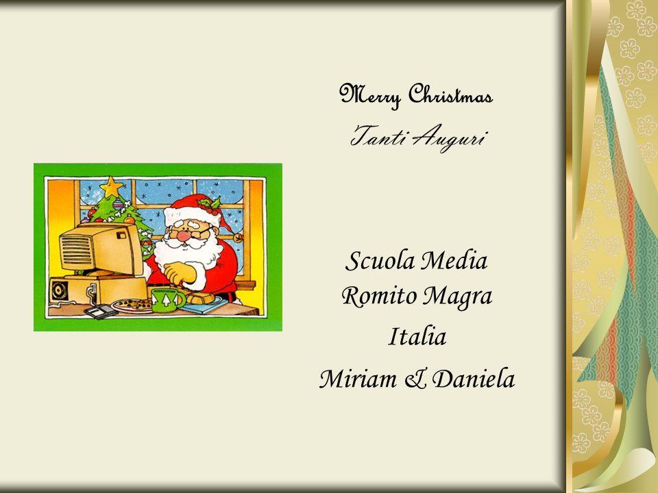 Merry Christmas Tanti Auguri Scuola Media Romito Magra Italia Miriam & Daniela