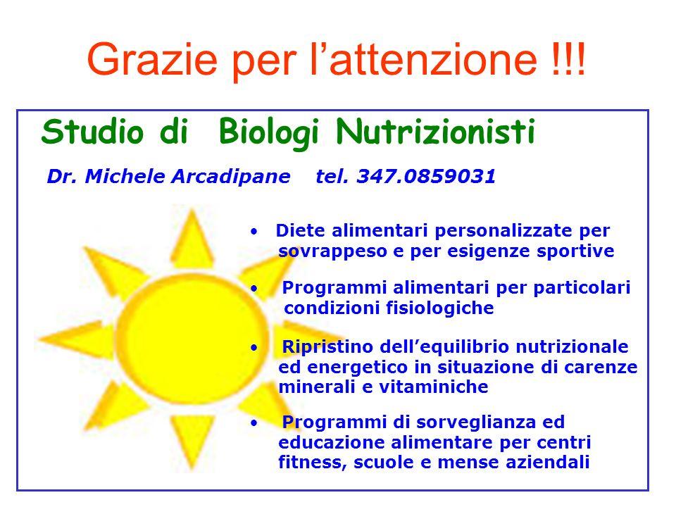Studio di Biologi Nutrizionisti Dr.Michele Arcadipane tel.