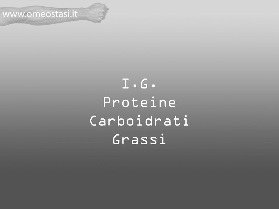 I.G. Proteine Carboidrati Grassi