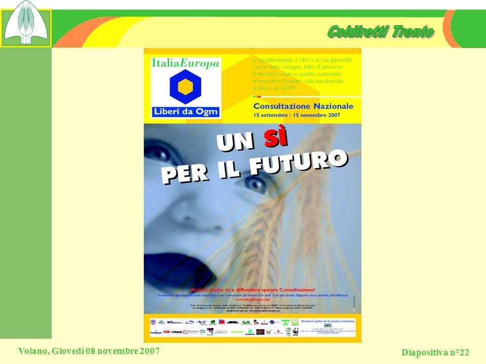 Diapositiva n°22 Volano, Giovedì 08 novembre 2007
