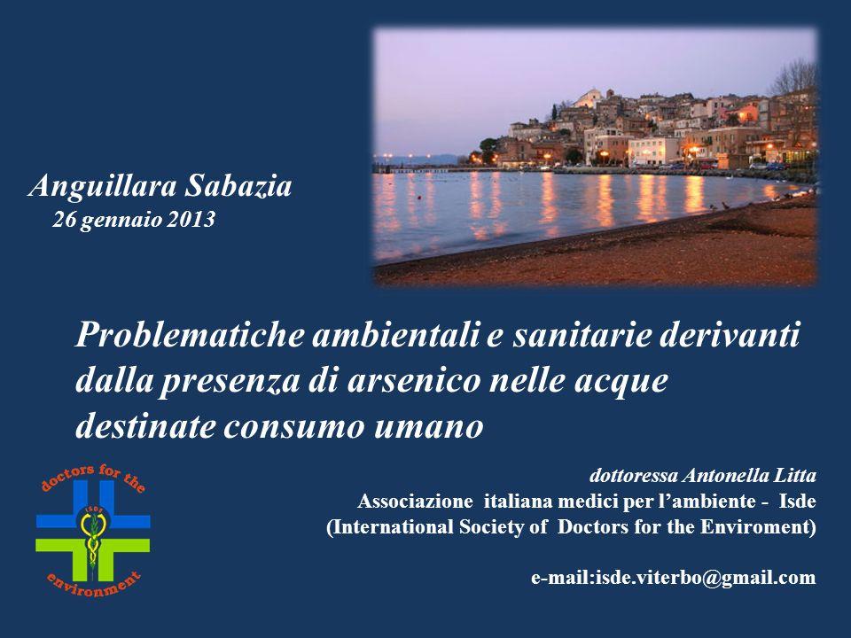 dottoressa Antonella Litta Associazione italiana medici per lambiente - Isde (International Society of Doctors for the Enviroment) e-mail:isde.viterbo