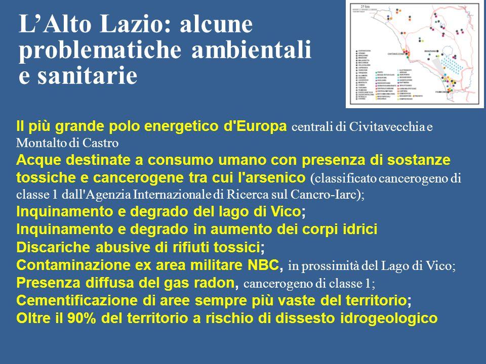 Il più grande polo energetico d'Europa centrali di Civitavecchia e Montalto di Castro Acque destinate a consumo umano con presenza di sostanze tossich