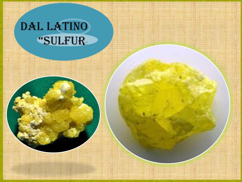 Dal latino sulfur.