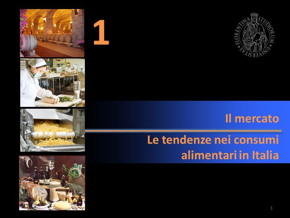 Il mercato Le tendenze nei consumi alimentari in Italia 1 1