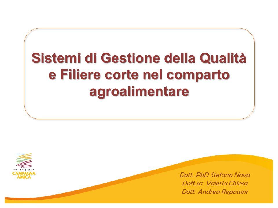 Filiera Agricola Italiana Progetto Campagna Amica Dott. PhD Stefano Nava Dott. Andrea Repossini