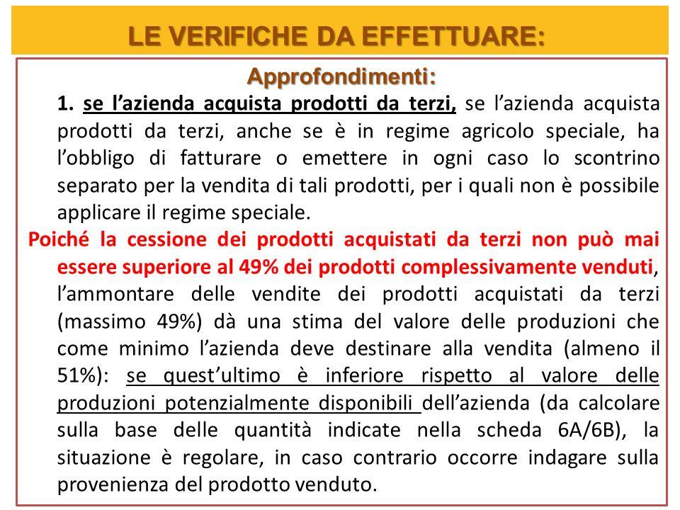 Approfondimenti: 1. se lazienda acquista prodotti da terzi, se lazienda acquista prodotti da terzi, anche se è in regime agricolo speciale, ha lobblig