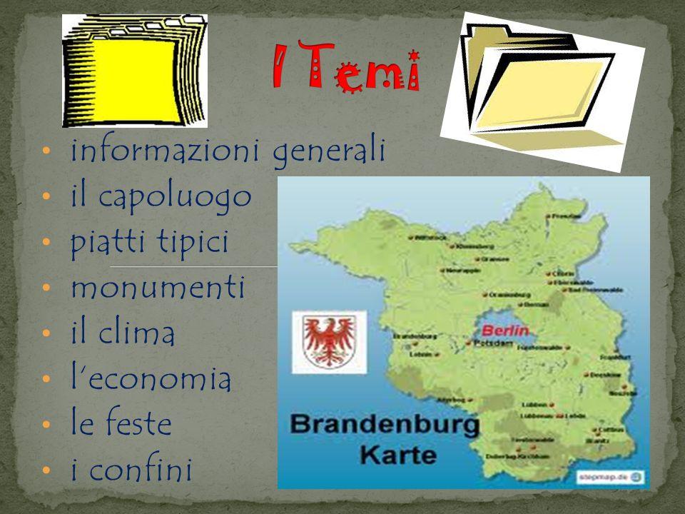 informazioni generali il capoluogo piatti tipici monumenti il clima leconomia le feste i confini