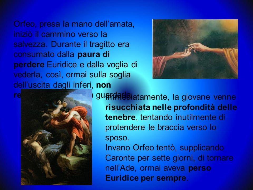 Orfeo si ritirò sul monte Rodope, in Tracia, chiudendosi nella solitudine e accettando di vedere soltanto ragazzi che istruiva sullorigine del mondo e degli dei e con i quali, secondo Ovidio, aveva rapporti intimi.