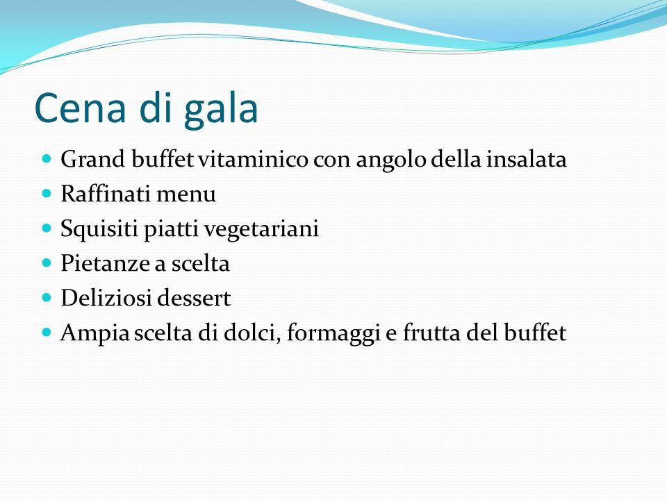 Cena di gala Grand buffet vitaminico con angolo della insalata Raffinati menu Squisiti piatti vegetariani Pietanze a scelta Deliziosi dessert Ampia sc