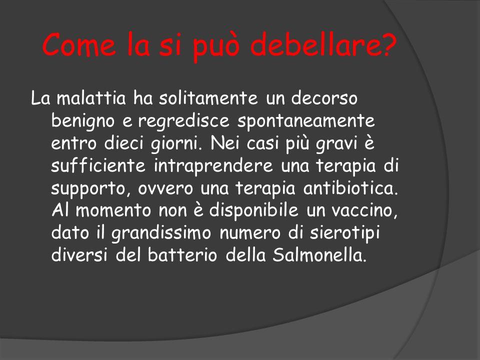 Bibliografia http://it.wikipedia.org/wiki/Salmonella http://it.wikipedia.org/wiki/Salmonellosi http://www.dica33.it/cont/schede- patologia/0907/2304/salmonellosi.asp