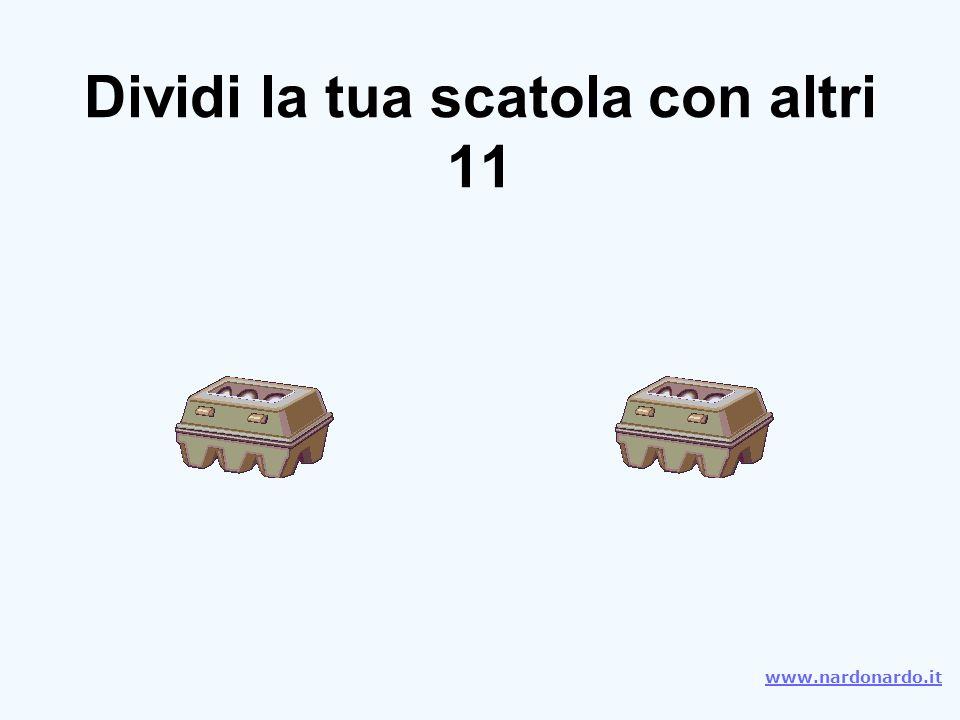 Dividi la tua scatola con altri 11 www.nardonardo.it