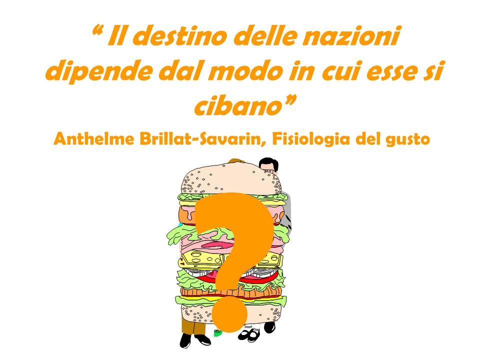 Il destino delle nazioni dipende dal modo in cui esse si cibano Anthelme Brillat-Savarin, Fisiologia del gusto ?