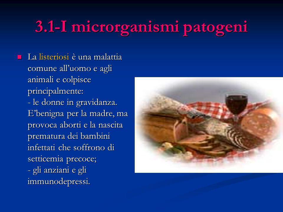 3.1-I microrganismi patogeni La listeriosi è una malattia comune alluomo e agli animali e colpisce principalmente: - le donne in gravidanza. Ebenigna