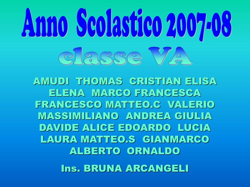 AMUDI THOMAS CRISTIAN ELISA ELENA MARCO FRANCESCA FRANCESCO MATTEO.C VALERIO MASSIMILIANO ANDREA GIULIA DAVIDE ALICE EDOARDO LUCIA LAURA MATTEO.S GIAN