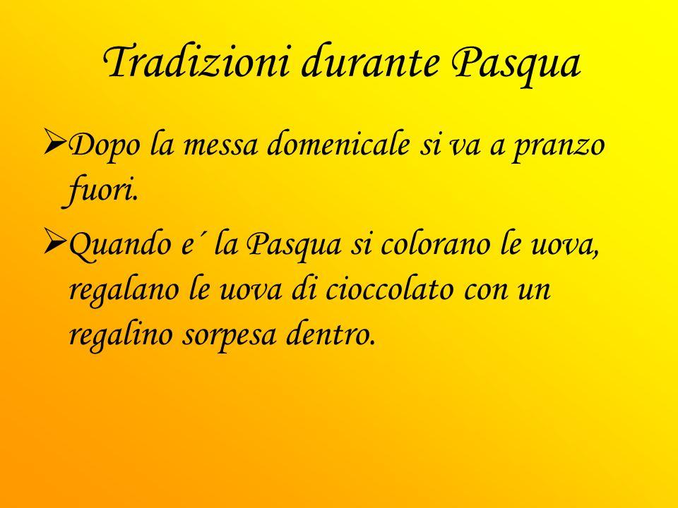Nutrimento/cibo che si mangia per Pasqua NellItalia per la festa di Pasqua si mangia di solitto l´agnello arrosto e la Colomba che e il dolce tipico italiano.