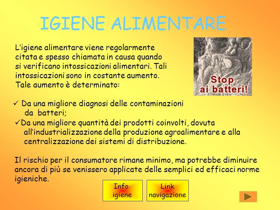 IGIENE ALIMENTARE Ligiene alimentare viene regolarmente citata e spesso chiamata in causa quando si verificano intossicazioni alimentari.