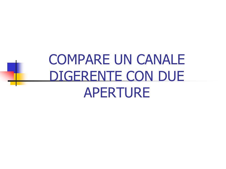 COMPARE UN CANALE DIGERENTE CON DUE APERTURE