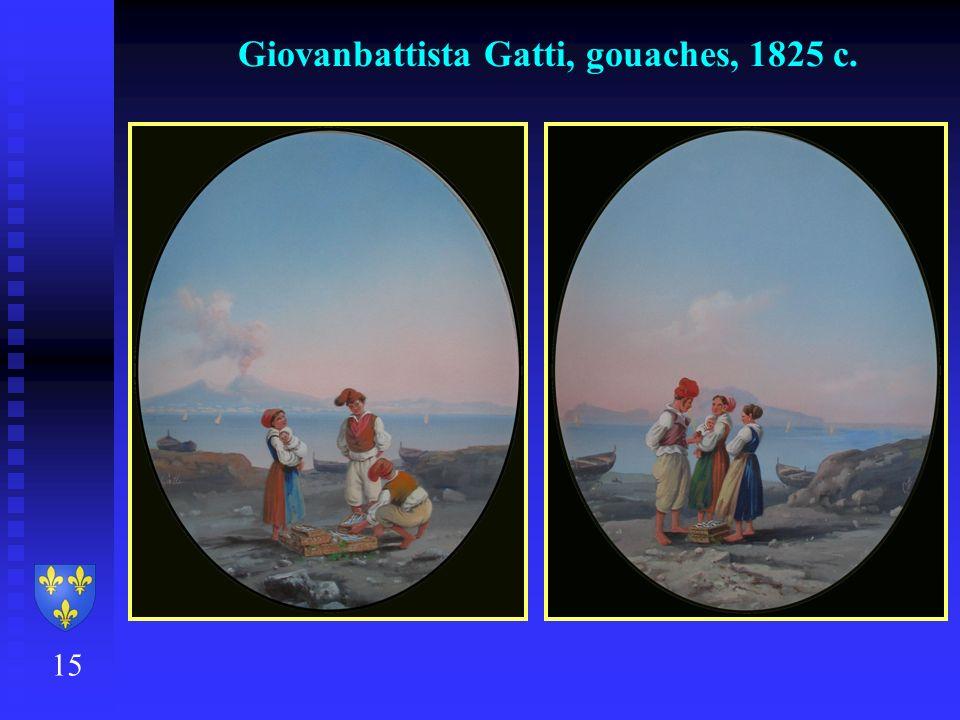 Giovanbattista Gatti, gouaches, 1825 c. 15