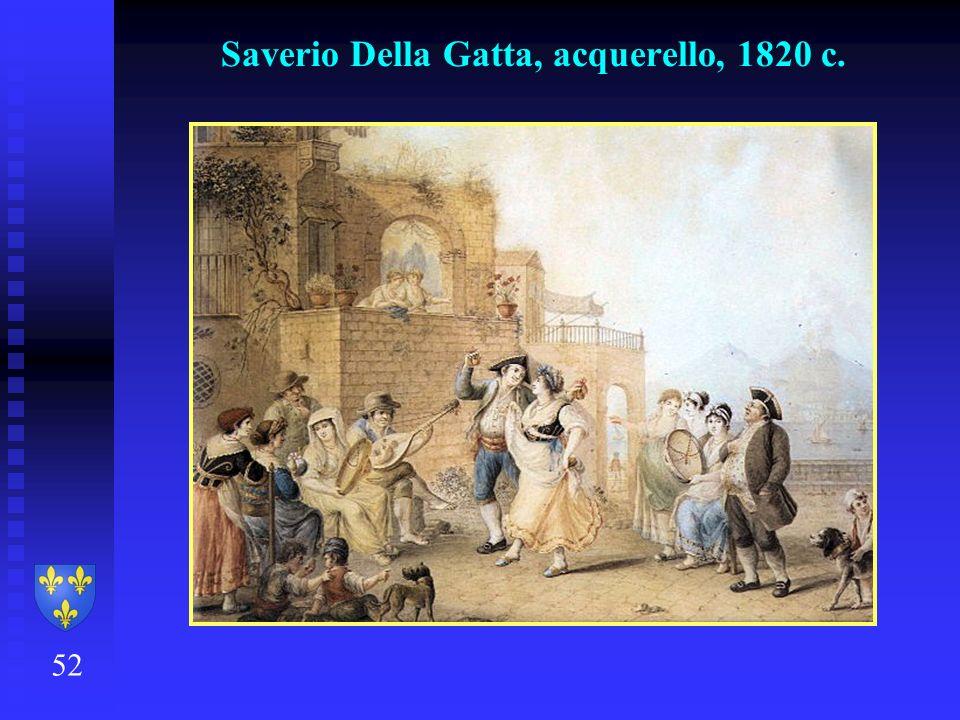 52 Saverio Della Gatta, acquerello, 1820 c.