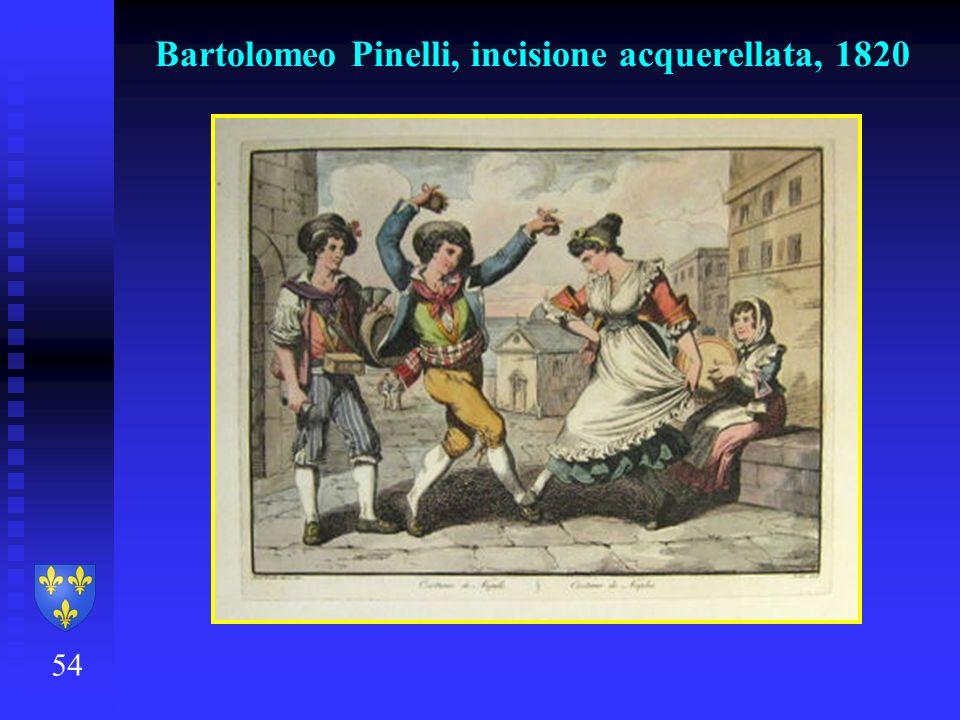 54 Bartolomeo Pinelli, incisione acquerellata, 1820